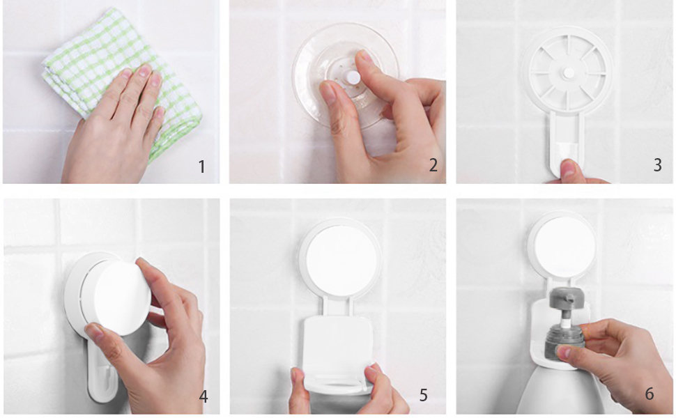 お風呂フック 吸盤性 シャンプーボトルフック 貼り付け跡なし 壁傷つけない 防水 4個セット