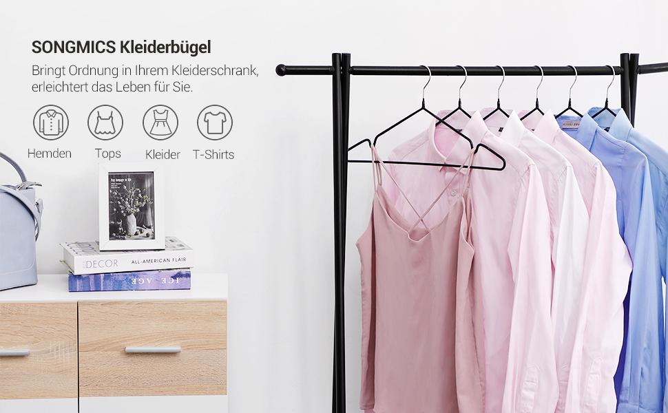 Hangerworld 3 Verchromte Hosensteg Kleiderb/ügel 35cm Schwarz Hochwertig Beschichtet Antirutsch