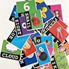 Reading & Spelling Words & Objects Number & Color Recognition Flash Cards Vocabulary Learning Game