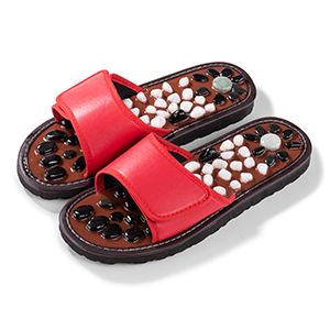 Red color stone slippers