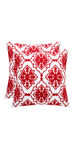 red pillowcases