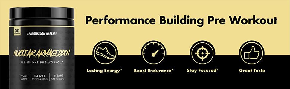 Performance Building Pre Workout Lasting Energy Boost Endurance Stay Focused Great Taste