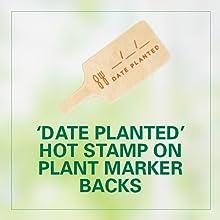 [5] Custom Wood-burned Plant Markers