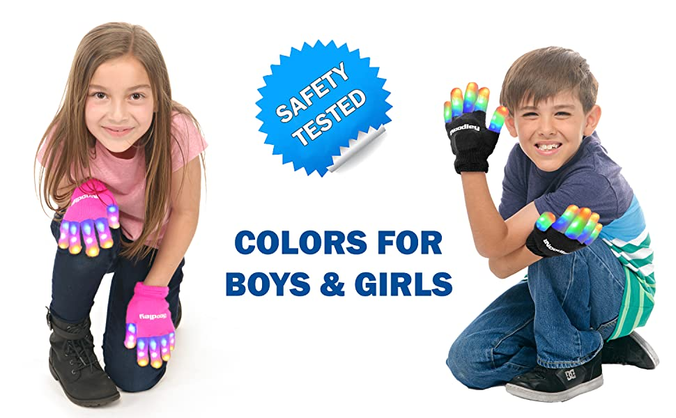 PINK LED GLOVES PURPLE LIGHTUP GLOVES BLUE LED GLOVE COLORFUL RAINBOW LIGHT TOY
