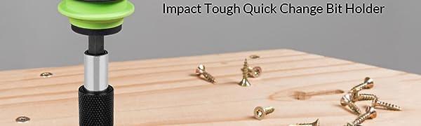 Drill,Driver,bit set and Handheld Driver WD1804 QWORK 3 Pcs 1//4 Inch Hex Shank Quick Release Bar Socket Screwdriver Bit Holder Magnetic Extension Chuck Adapter set for Screws Nuts