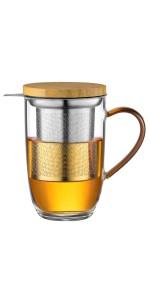 竹盖单层茶杯