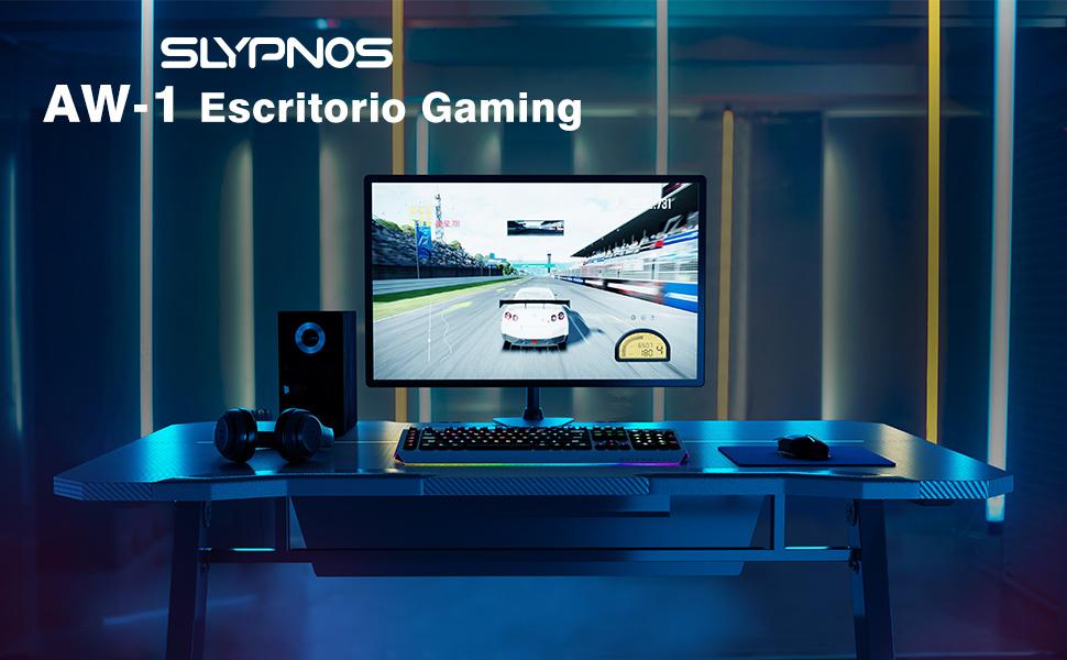 Slypnos - Escritorio Gaming, Mesa para Gaming, Mesa Gamer, Mesa ...