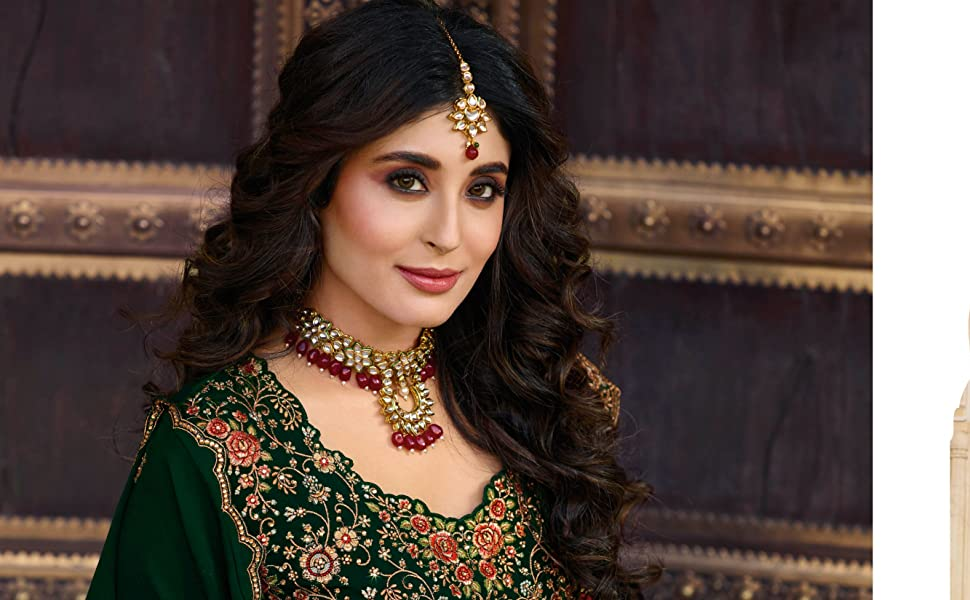 salwar suit set embroidered  georgette semi stitched Pakistani dress