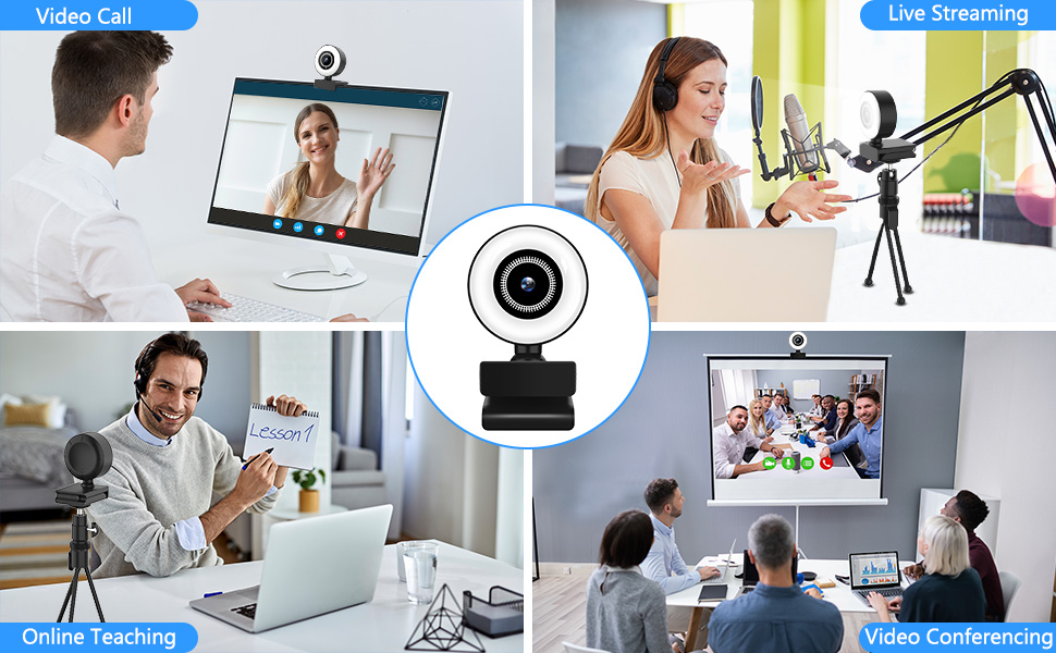 Flashandfocus.com 657055f1-394d-4b3f-b3ac-5c0f7ef2c0e5.__CR0,0,970,600_PT0_SX970_V1___ Streaming HD Webcam, ITSHINY 1080P Webcam with Ring Light & Dual Microphone, USB Adjustable Brightness Web Camera for…