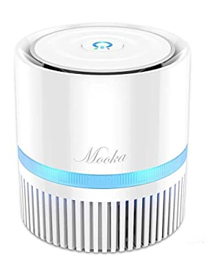 Mooka air purifier for bedroom small room desktop offcie desk night stand