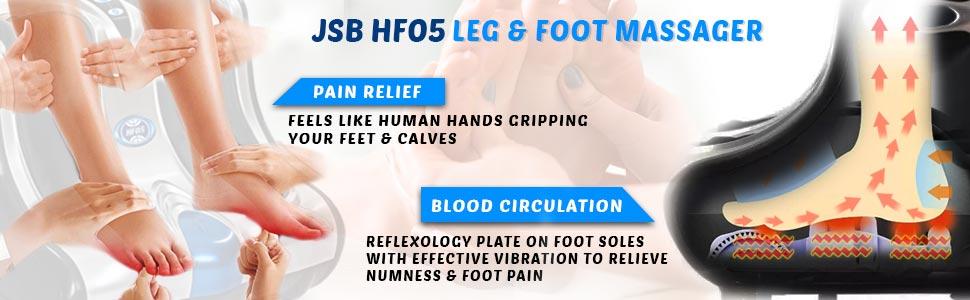 jsb hf05 calf foot massager machine