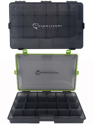 Evolution Fishing 4-Latch Waterproof Tackle Boxes