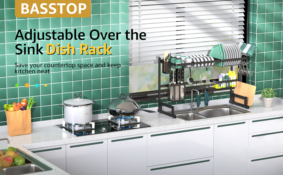 over the sink storage rack