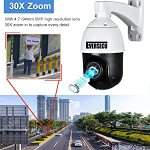 30X Optical zoom outdoor high speed ptz security camera