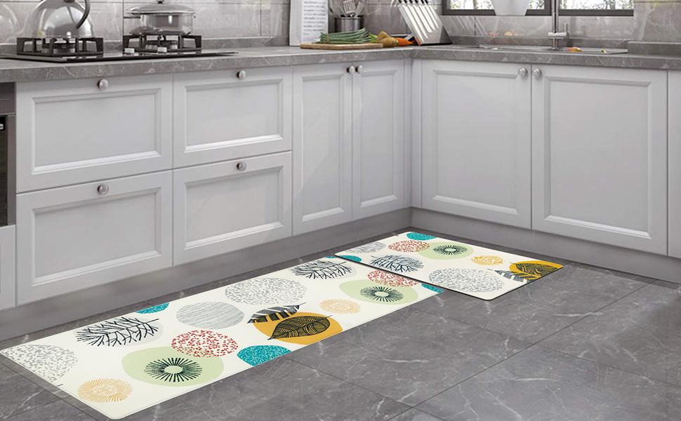 Pauwer anti fatigue kitchen mats non slip rugs set of 2 for kitchen floor