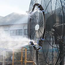 Refroidissement de brume de patio