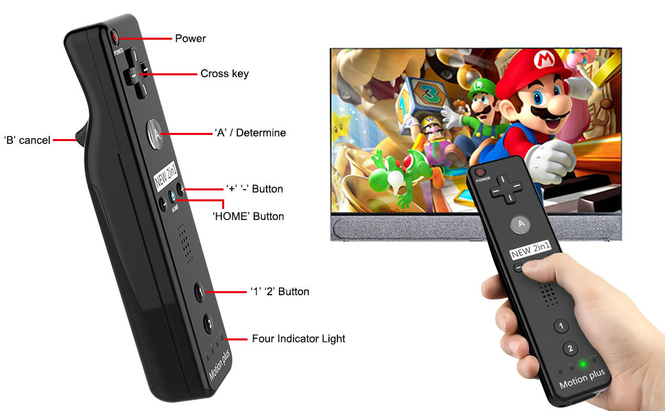 Wireless Wii U Motion Plus Remote Controller