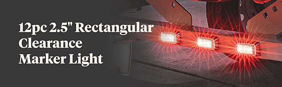 """2.5"""" LED Clearance Marker Light Red"""