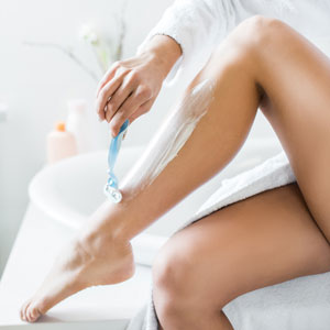 Whish soothing shave cream's thick lather calms skin with organic green tea and organic coconut oil