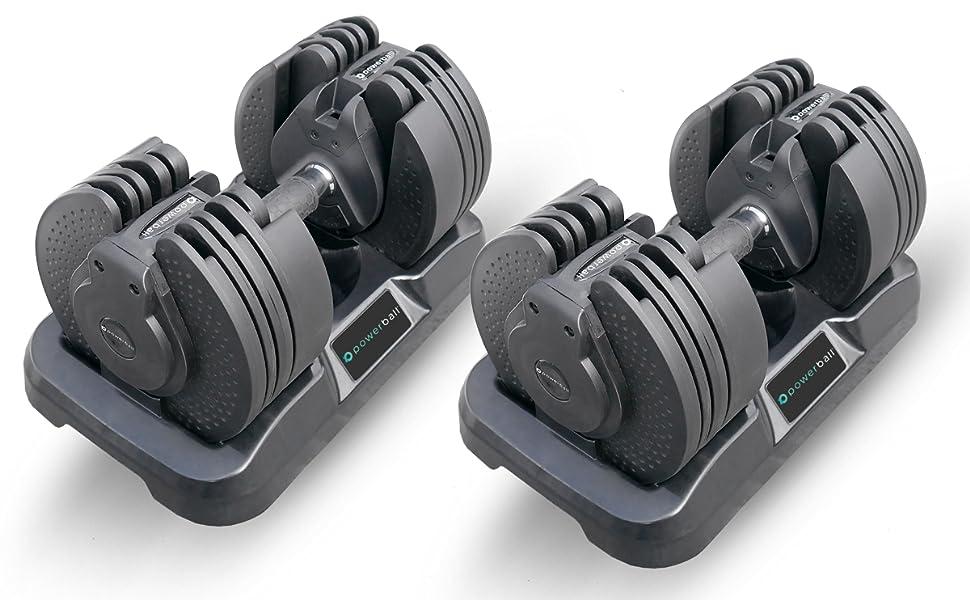 Powerball Set de Mancuernas Ajustables (20 KG máx.) con tecnología ...