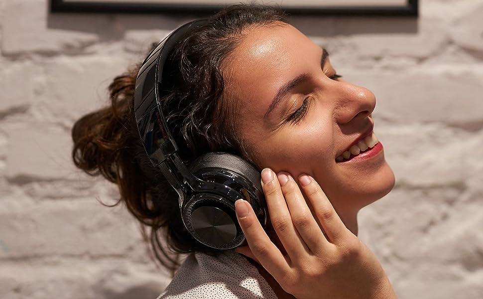 Drahtloser Kopfhorer Bluetooth-Kopfhorer mit enorme Batteriespielzeit fur TV PC Laptop Handys