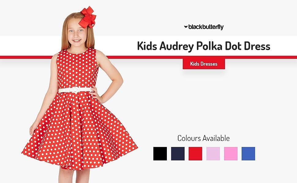Kids Audrey Polka Dot Dress