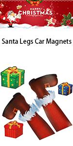 Santa Legs Christmas Car Magnets