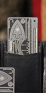readyman survival card wilderness multitool multi tool toolcard first aid arrow knife saw hooks
