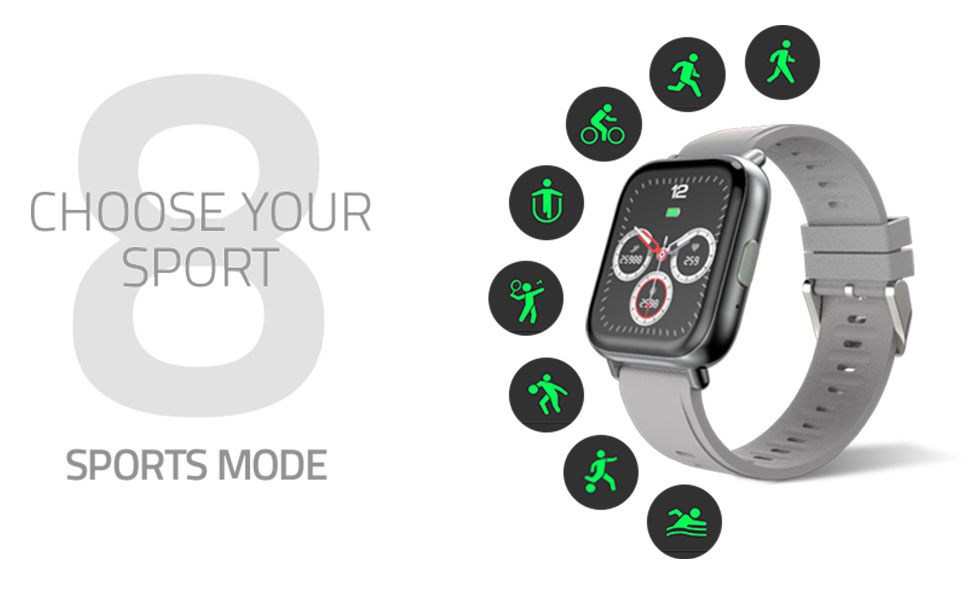 8 sport mode with sleeping swimming cycling jogging running tracker smart watch