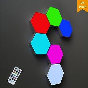 Hexagon wall light