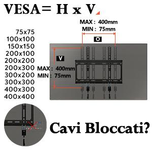 supporto TV da parete staffa tv PL2268-MK Eono Essentials inclinabile 55 pollice VESA 400x400