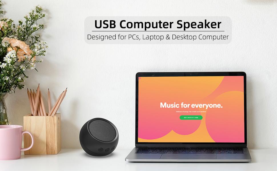 LIELONGREN USB Powered Computer Speaker
