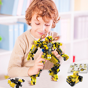 HOMOFY STEM Building Toys for 6 Year Old Boys 594PCS Robot STEM Toys Engineering Building Blocks Building Bricks Toy Transformers Toys Science Kits for 5 6 7 8 9 10 11 12 Year Old Boys Girls Gifts