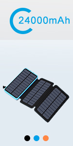 solar charger blue 24000