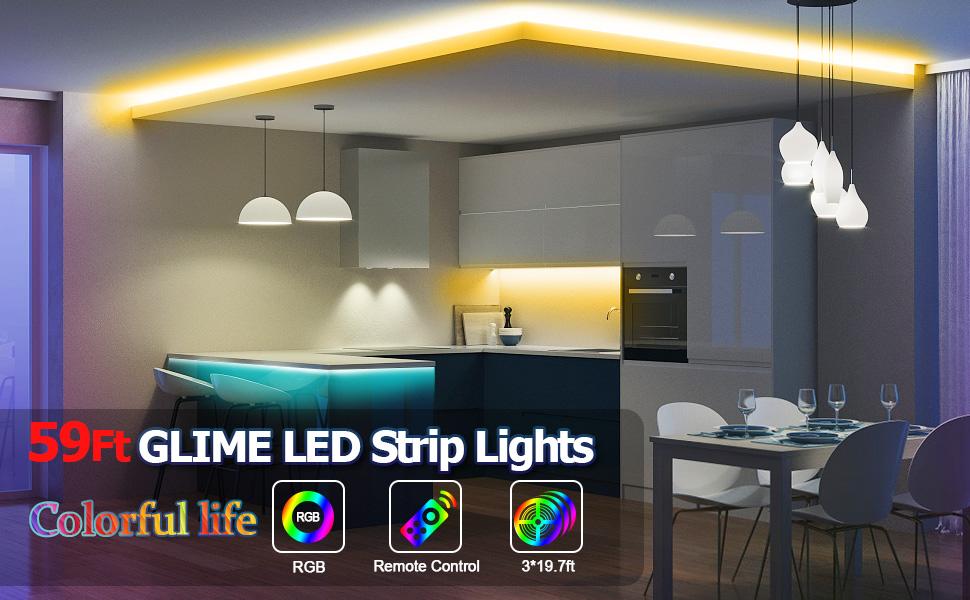 RGB LED Strip 59FT