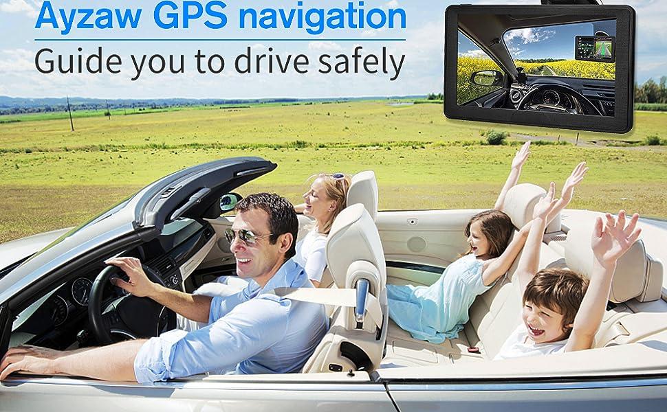 7 inch black GPS navigation