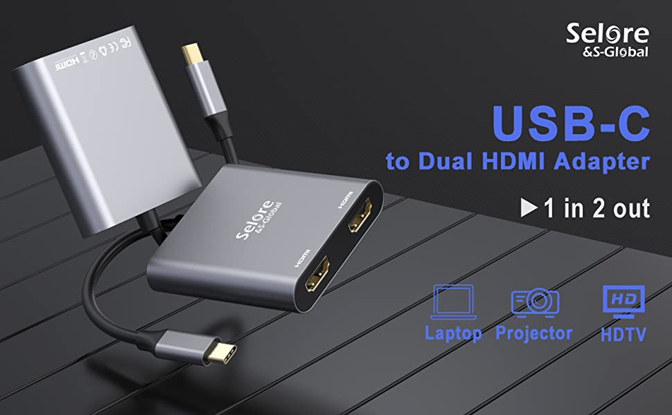 usc to dual hdmi adapter