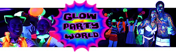 Black light glow in the dark party kit and neon party paint glow party world UV blacklight supplies