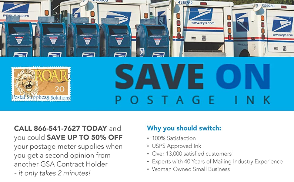 SAVE ON POSTAGE INK COVER
