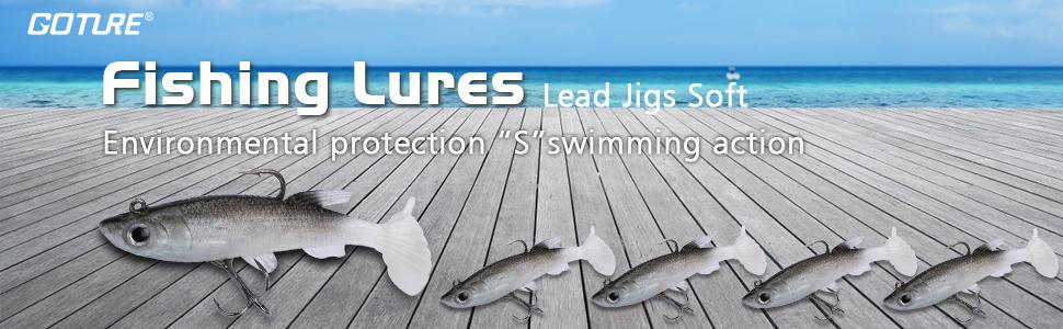 fishing lures lead jigs soft