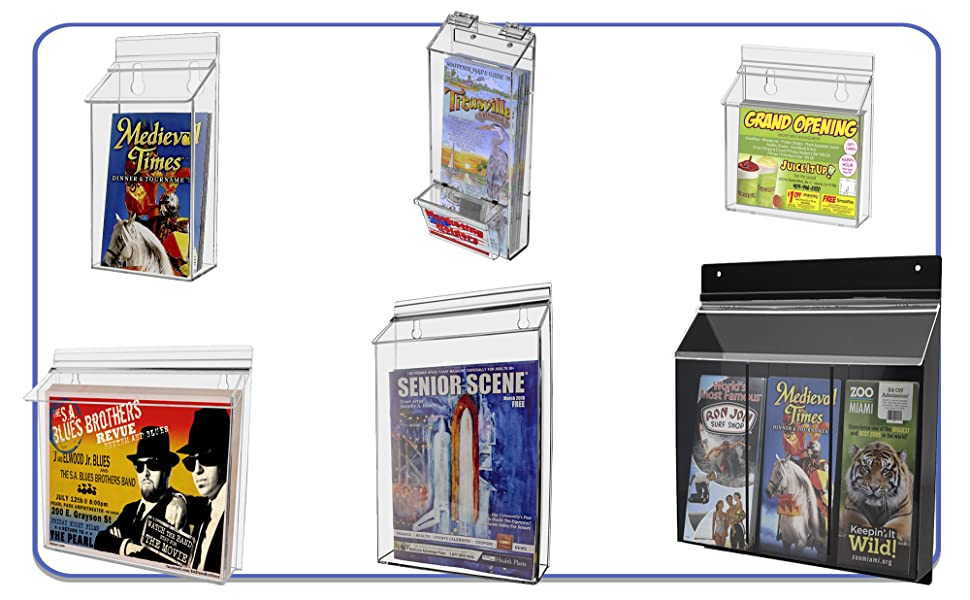 Marketing Holders Outdoor Brochure Business Card and Post Card Display Boxes