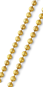 sterling silver moon cut bead chain link solid dog tag military yellow gold vermeil plated