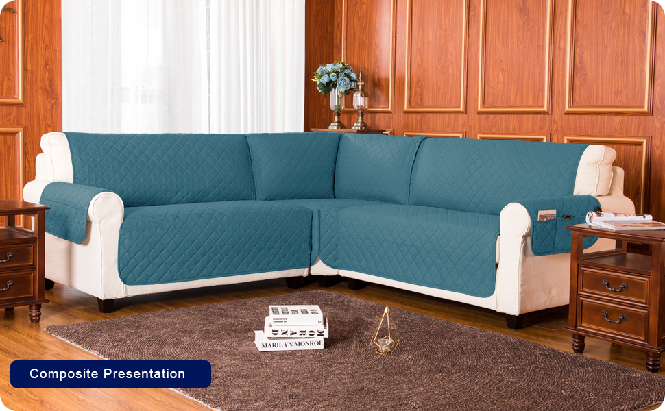 Sectional Corner Sofa Slip Cover