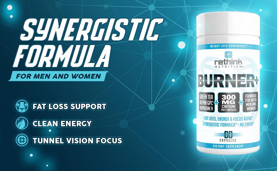 fat burner, rethink, energy, fat loss, focus