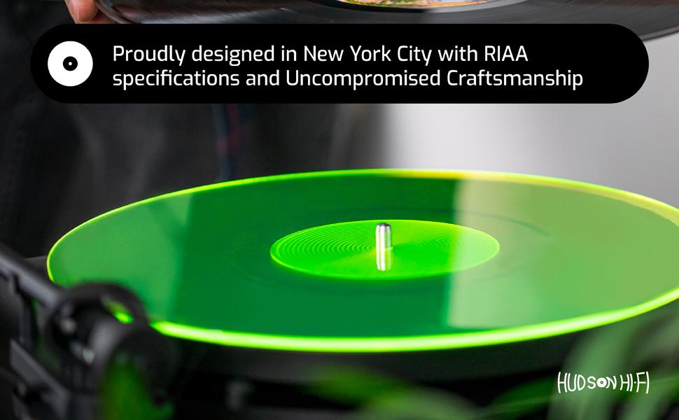 record turntable upgrade acrylic platter recorder slipmat black vertical player cork vinyl leather