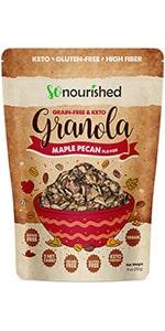 Maple Pecan Keto Granola