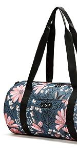 jadyn b barrel duffel 19 carry on compact small medium duffel gym bag premium deluxe zip designer