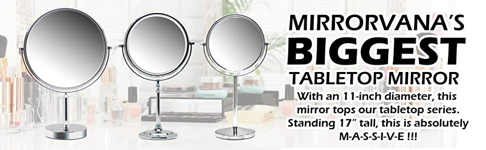 tabletop makeup mirror