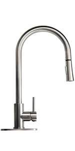 2 function pull down kitchen faucet stainless steel