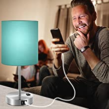 green nightstand dimmable lamp bedside table table bedside lamp with usb port lamps for living room